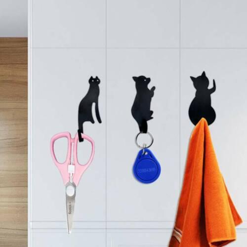 Keys Hanger Cat Tail Shaped Kitchen Metal Hook key holder wall Door Hanger 6T