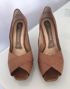 Details zu Damen Leder Schuhe Pumps PETER KAISER braun used look Gr. 39 NEUWERTIG