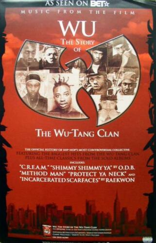 WU-TANG CLAN 2008 WU soundtrack promo poster ~NEW old stock//MINT condition~!!
