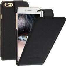 Blumax Flip Case Ledertasche für Apple iPhone 6 Schwarz Handytasche Smartphone