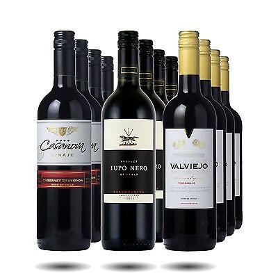 Red Wine Case - Value Reds Full Case. 12 btls Red Wine from around the world