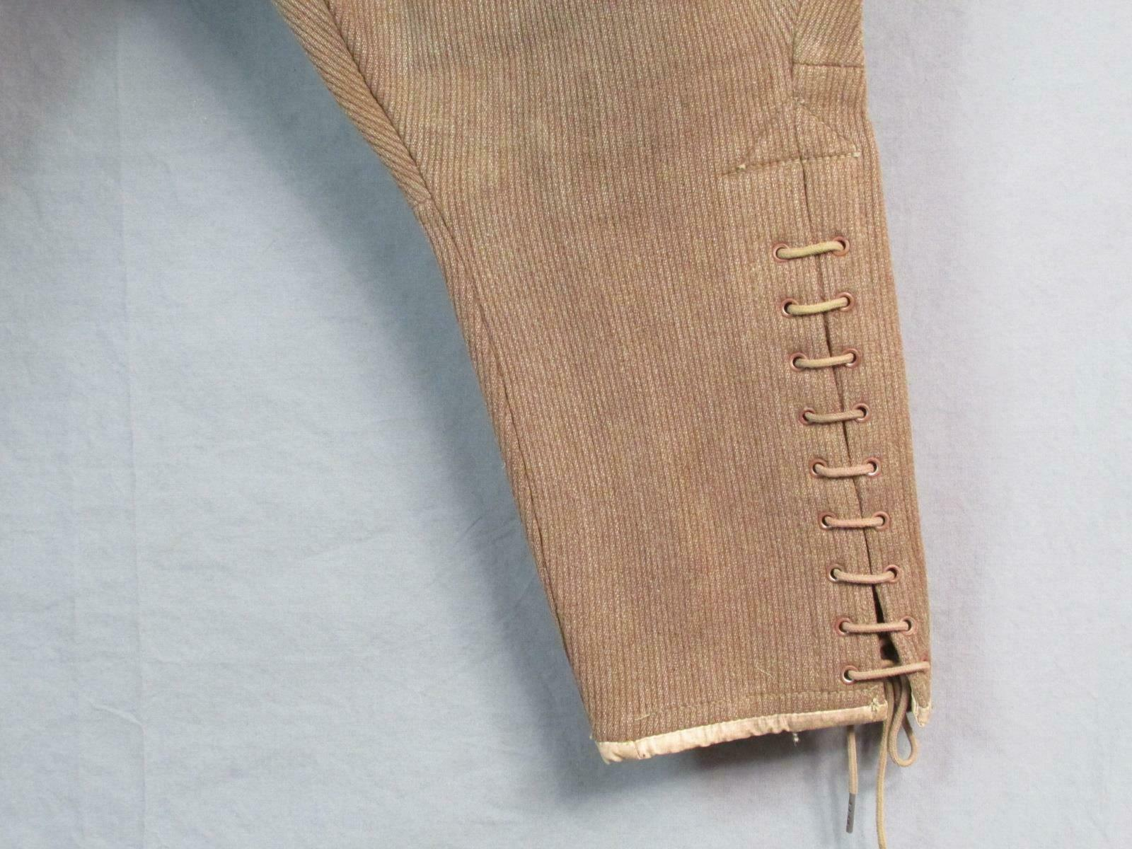 Vintage 1910s Wool Whipcord Riding Pants WWI Mili… - image 6