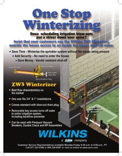 Wilkins Winterizer Through the Wall Hydrant ZW3-12-1F Irrigation Sprinkler