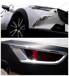 ABS-Cromo-Frontal-Posterior-Niebla-Faro-Tapa-Embellecedora-6pcs-para-Mazda