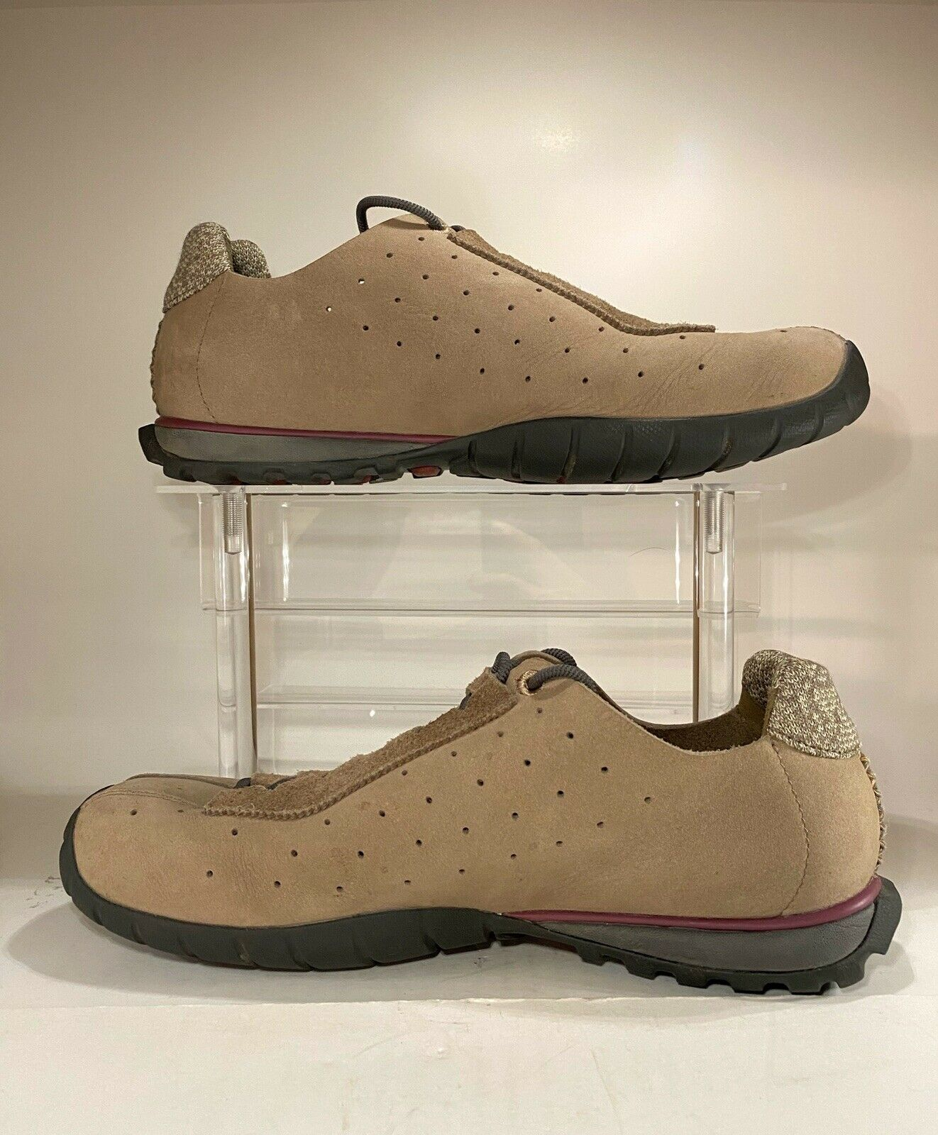 Timberland Smart Wool, Outdoor Performance Tan Suede Shoes, US Sz 8 SAMPLE
