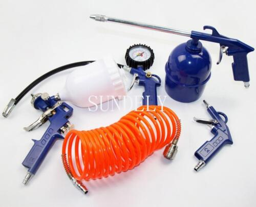 5 Piece Air Compressor Tool Accessories Kit Spray Gun UK