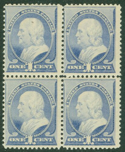USA 1887. Scott #212 Mint. A P.O. Fresh Block of 4 with perfect gum. Cat $960+