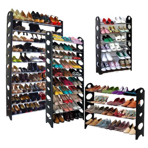 4//6//10 Tier Shoe Rack Organizer Shelf Stand Wall Bench Closet Storage Holder Tow