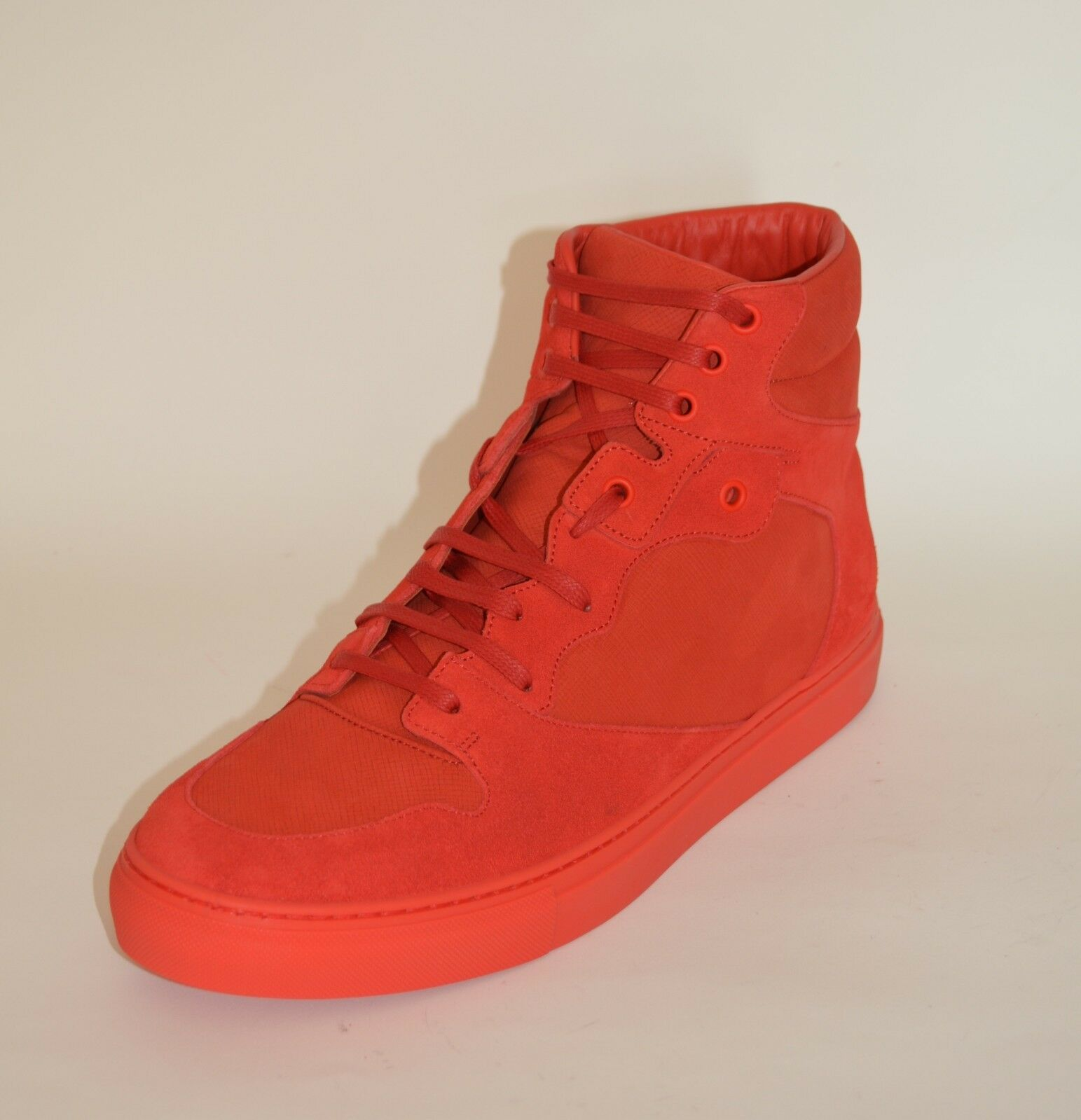 BALENCIAGA HITOP SUEDE LEATHER SNEAKERS US 10 EU 43 43 43 NEW Uomo  635 RED 688020