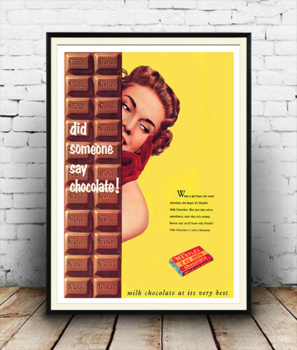 Did someone say chocolate Confectionery advertising poster reproduction