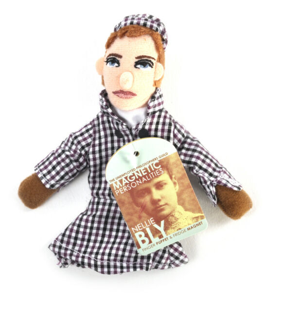 Nellie Bly Finger Puppet and Refrigerator Magnet