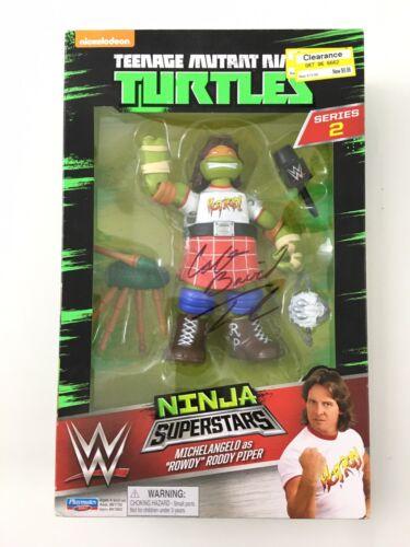Teenage Mutant Ninja Turtle WWE Super Stars Roddy Piper signé par Colt Toombs