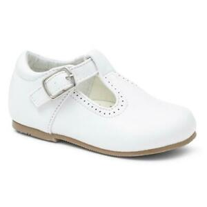 BABY GIRL SMART T BAR SHOES WHITE PINK