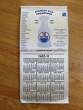 1984 1985 EDMONTON OILERS Stanley Cup Champions Calendar Banner WAYNE GRETZKY