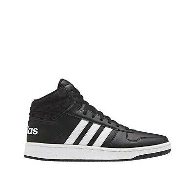 Herrenschuhe Adidas Vs Reifen Mittel BB7207 Schwarz Weiß Turnschuhe Sport Leder   eBay