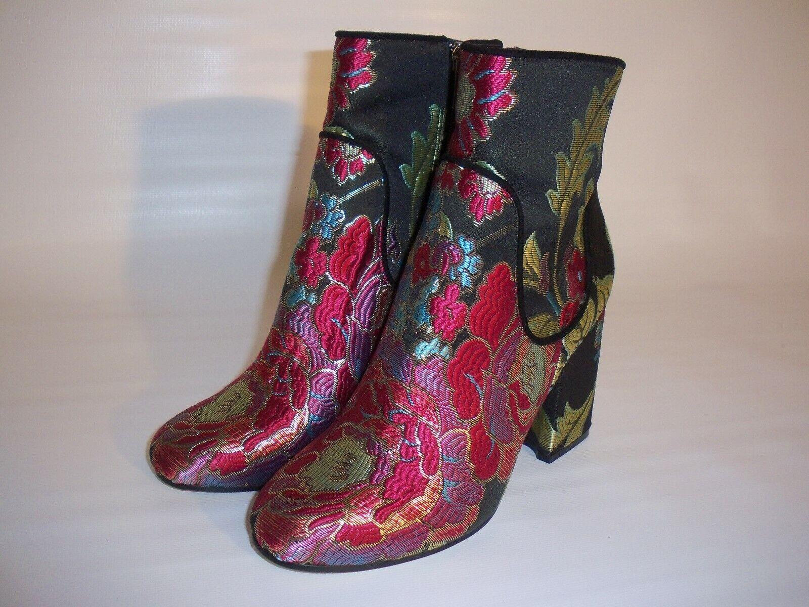 Marc Fisher Jana botas Bordado Floral MultiColor brocado de seda para mujer 6M