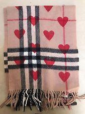 Bufanda de Cachemira Finding Rojo Corazón Estampado, RRP £ 395