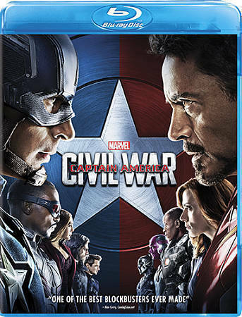 Captain America: Civil War (Blu-ray Disc, 2016) Marvel movie robert downey jr LN
