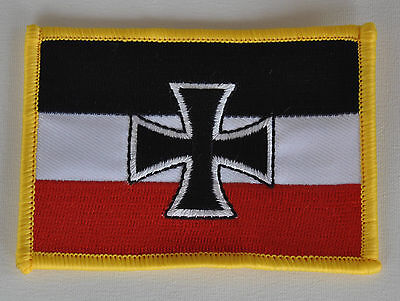Aufnäher Dominikanische Rep Deutschland Fahne Flagge Aufbügler Patch 9 x 6 cm