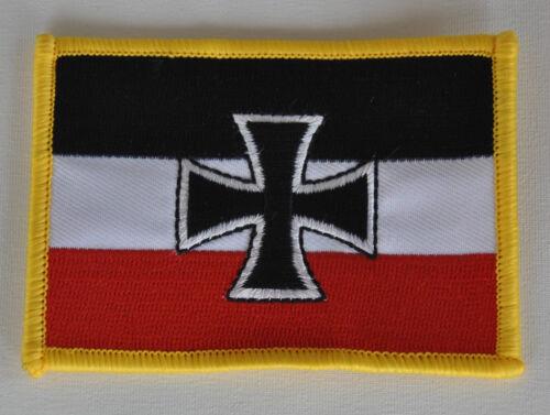AUFNÄHER PATCH AUFBÜGLER FAHNE FLAGGE GÖSCH SCHWARZ WEISS ROT EISERNES KREUZ