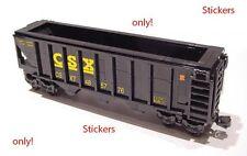 Stickers for CSX Hopper trains LEGO