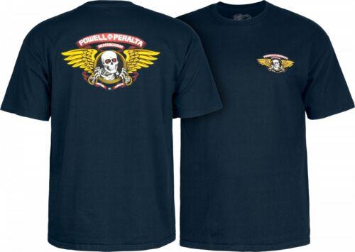 Powell Peralta WINGED RIPPER Skateboard T Shirt NAVY XXL