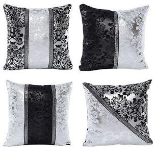 Silver-Black-Square-Pillow-Cases-Sofa-Throw-Cushion-Cover-Luxury-Home-Sofa-Decor