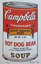 ANDY WARHOL CAMPBELL'S HOT DOG BEAN SOUP II SIGNED HAND NUMBERED LITHOGRAPH