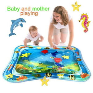 Inflatable-Water-Mat-Pat-Tummy-Time-Infants-amp-Toddlers-Kids-Baby-Play-Center-Fun