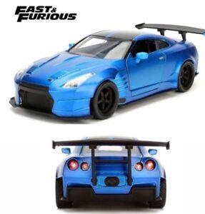 Brian-039-s-Nissan-GT-R-R35-Sopra-Blue-039-Fast-amp-Furious-039-1-24-Model-Car