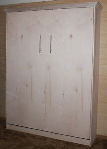 Murphy Bed Queen Size Unfinished Maple Made By Murphy