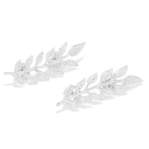 Designer Men Women Fashion Gold Silver Lapel Collar Pair Leaf Brooch LC