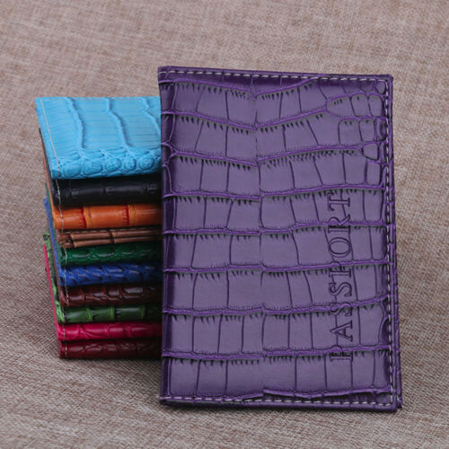 Passport Holder Protector Wallet Business Card Soft Passport Leather Cover