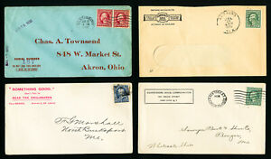 US-Early-Advertising-Stamp-Cover-Lot-of-8