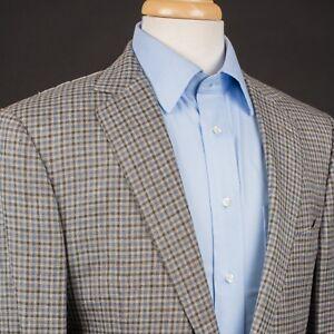 NEW-ERMENEGILDO-ZEGNA-Crossover-Sports-Coat-Jacket-Gray-Gun-Check-EU52L-Italy