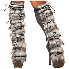 Fur Leg Warmer Costume Accessory Adult Halloween