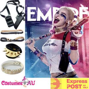 Harley-Quinn-SUICIDE-SQUAD-Accessories-Halloween-Belt-Collar-Bracelets-Holster