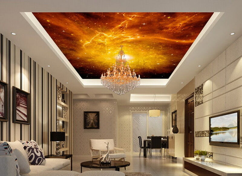 Fixrd Star Universe Explosion Ceiling Wall Mural Wall paper Decal Wall Art