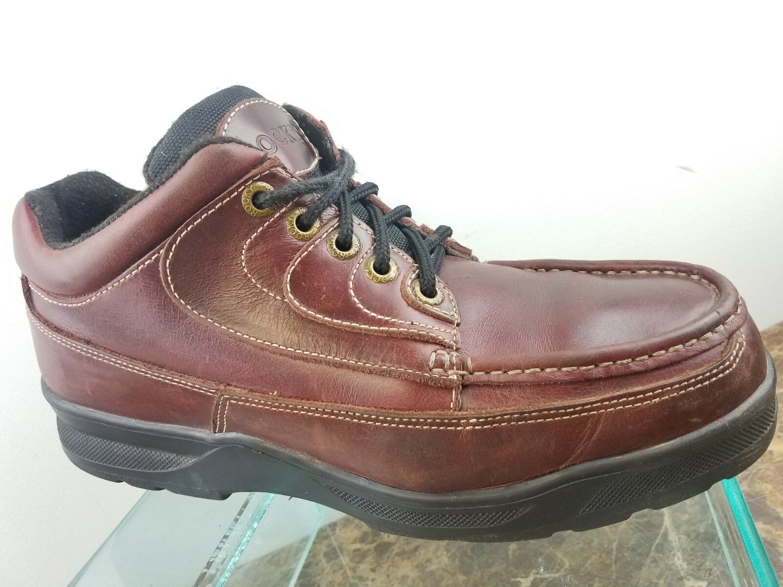 Rocky Mens Burgundy Leather Lace Up Hiking Hunting Trail Ankle Boots 10.5M USA