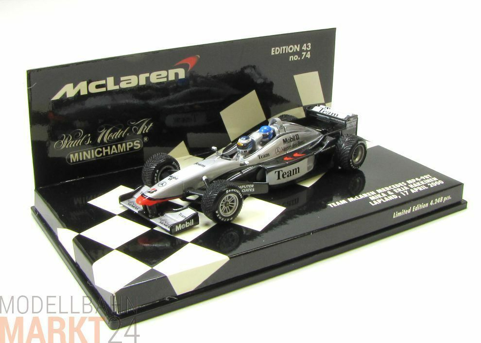 MINICHAMPS McLaren Mercedes Benz MP4-98T in black silver Modell in 1 43 - OVP