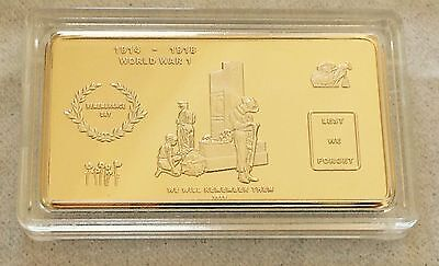 GOLD Plated collectable INGOT ATHENS/_EVZONES ACROPOLIS/_PARTHENON