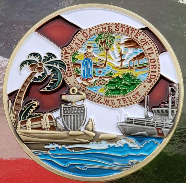 US Coast Guard Space and Treasure Coast Chief's Mess Custom Challenge Coin