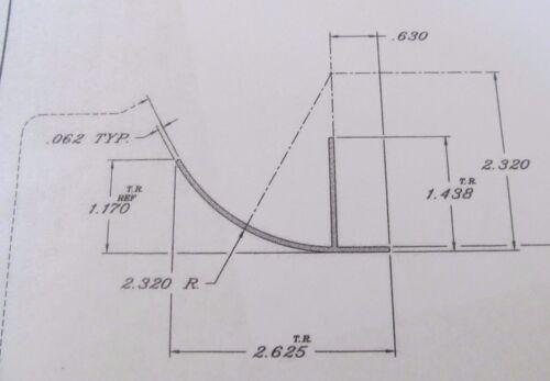 "48/"" White Aluminum Lower Sidewall Radius Bottom Trim Molding RV 1055-AW"