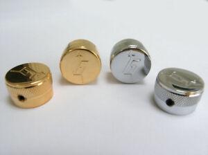 2 x Gretsch Style Metal Barrel Control Knobs K20