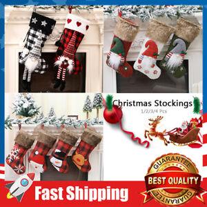"18"" Large Christmas Stockings Hanging for Xmas Gift Holiday Season Party Decor"