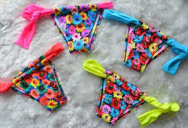 Brazilian Bikini Swimwear Thong Floral Bottom EU 38, 40, 42, 44
