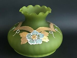 Vintage-GWTW-Hurricane-Student-Tam-O-Shanter-Hand-Painted-Glass-Lamp-Shade