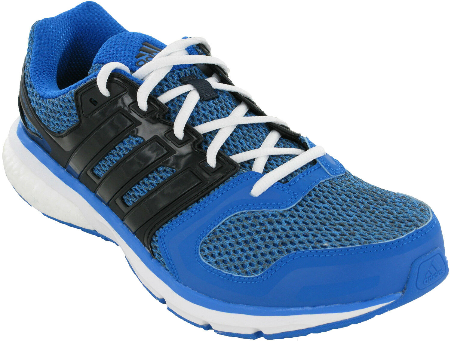 Adidas Questar Sports  Uomo Lace Up Blau Mesh Running Sports Questar Fitness Trainers Schuhes 4e2e94