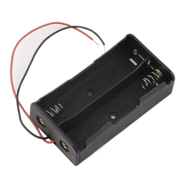 Plastic Battery Storage Case Box Holder For 2 x 18650 3.7V With Wire YE