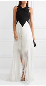 NEW-Authentic-Givenchy-Fringe-Bow-Embellished-Dress-Gown-CURRENTLY-RRP-4039